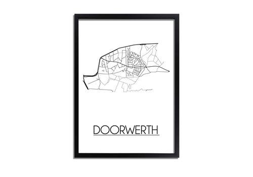 DesignClaud Doorwerth Plattegrond poster