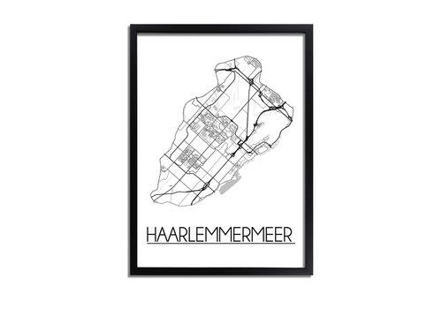 DesignClaud Haarlemmermeer Plattegrond poster