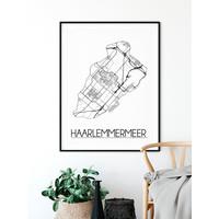 Haarlemmermeer Plattegrond poster