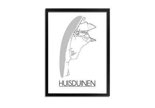 DesignClaud Huisduinen Plattegrond poster
