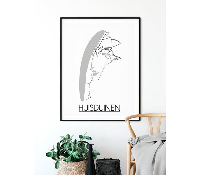Huisduinen Plattegrond poster