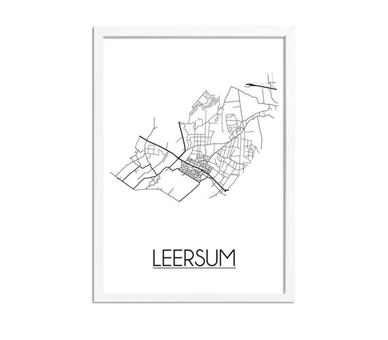 Leersum Plattegrond poster