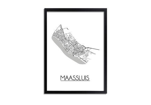 DesignClaud Maassluis Plattegrond poster