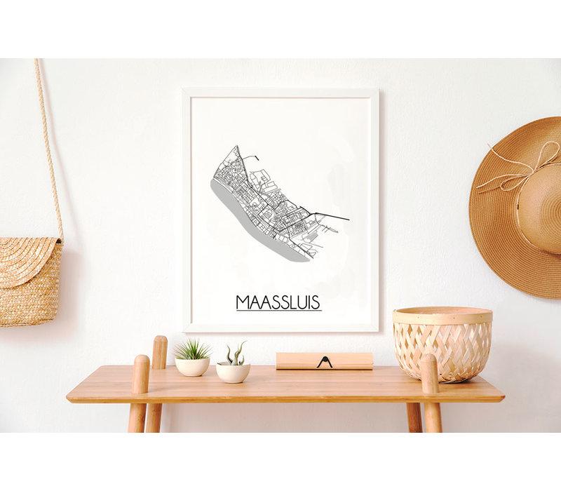 Maassluis Plattegrond poster