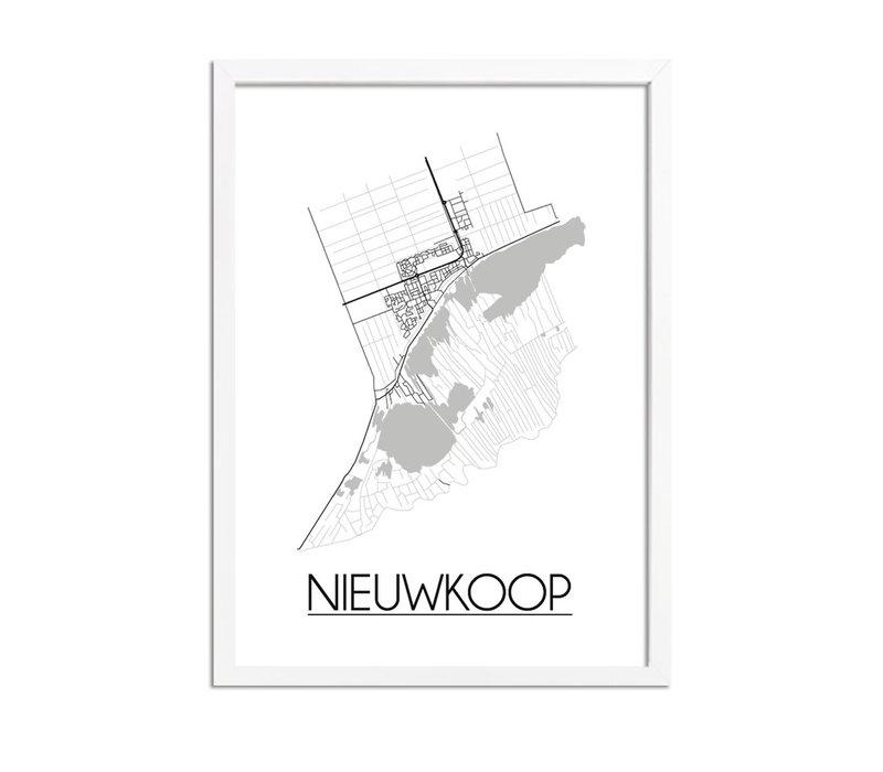 Nieuwkoop Plattegrond poster