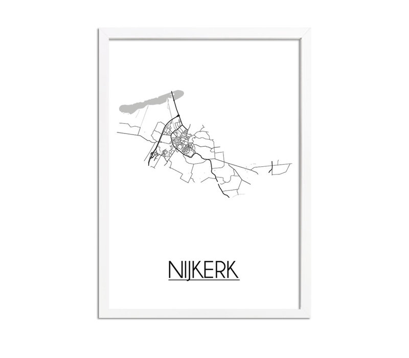 Nijkerk Plattegrond poster