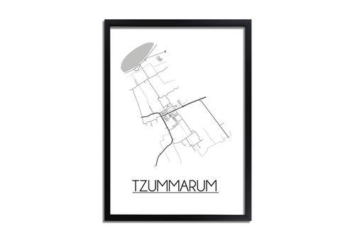 DesignClaud Tzummarum Plattegrond poster