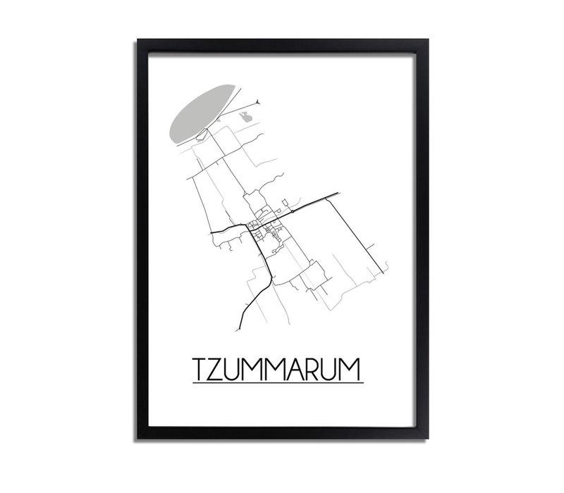 Tzummarum Plattegrond poster
