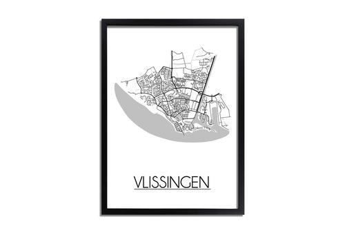 DesignClaud Vlissingen Plattegrond poster