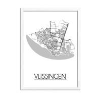 Vlissingen Plattegrond poster