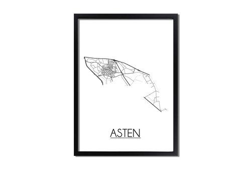 DesignClaud Asten Plattegrond poster