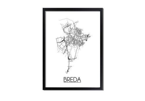 DesignClaud Breda Plattegrond poster