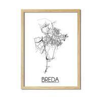 Breda Plattegrond poster