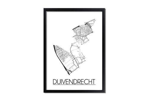 DesignClaud Duivendrecht Plattegrond poster