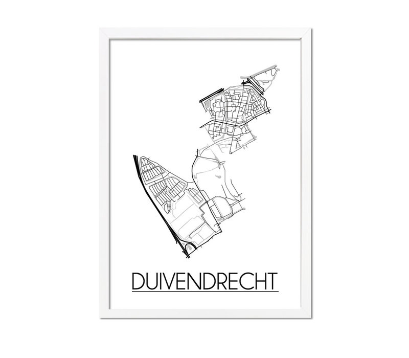 Duivendrecht Plattegrond poster