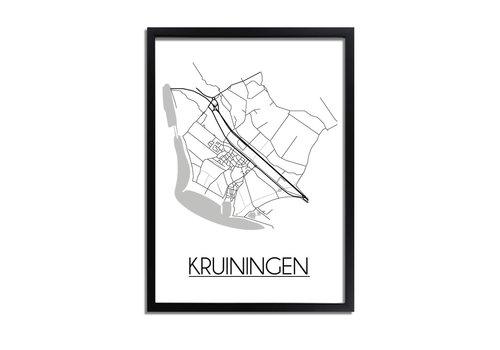 DesignClaud Kruiningen Plattegrond poster