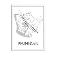 Kruiningen Plattegrond poster