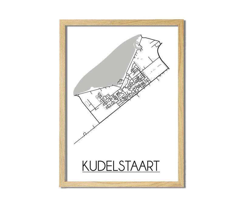 Kudelstaart Plattegrond poster
