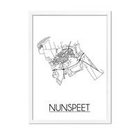 Nunspeet Plattegrond poster
