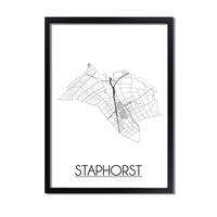 Staphorst Plattegrond poster
