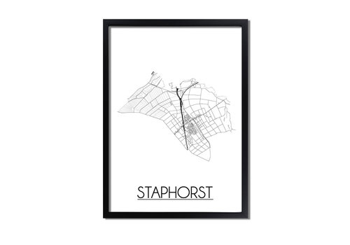 DesignClaud Staphorst Plattegrond poster