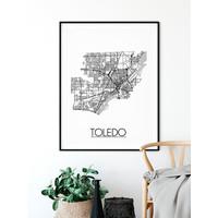 Toledo Ohio Plattegrond poster