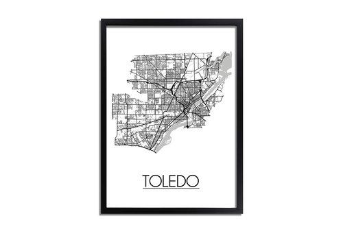 DesignClaud Toledo Ohio Plattegrond poster