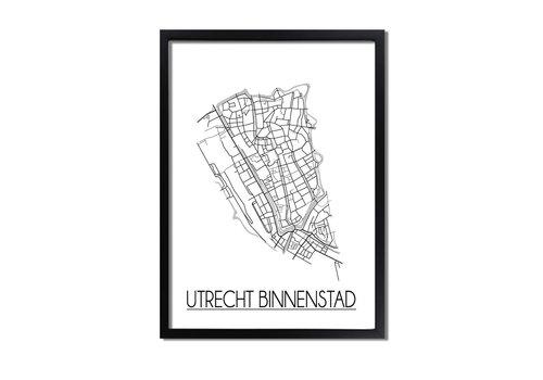 DesignClaud Utrecht Binnenstad Plattegrond poster
