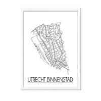Utrecht Binnenstad Plattegrond poster