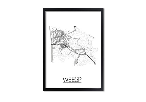 DesignClaud Weesp Plattegrond poster