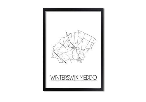 DesignClaud Winterswijk Meddo Plattegrond poster
