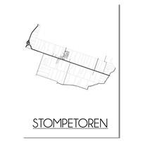 Stompetoren Plattegrond poster