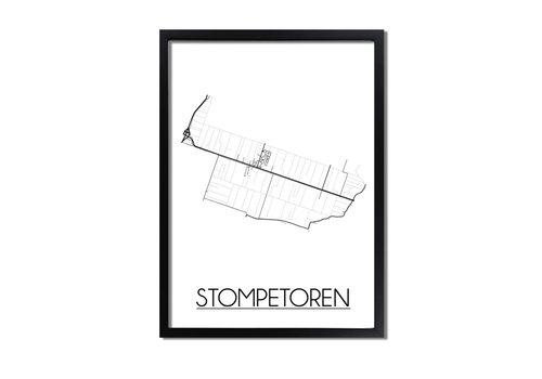 DesignClaud Stompetoren Plattegrond poster