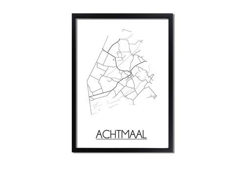 DesignClaud Achtmaal Plattegrond poster