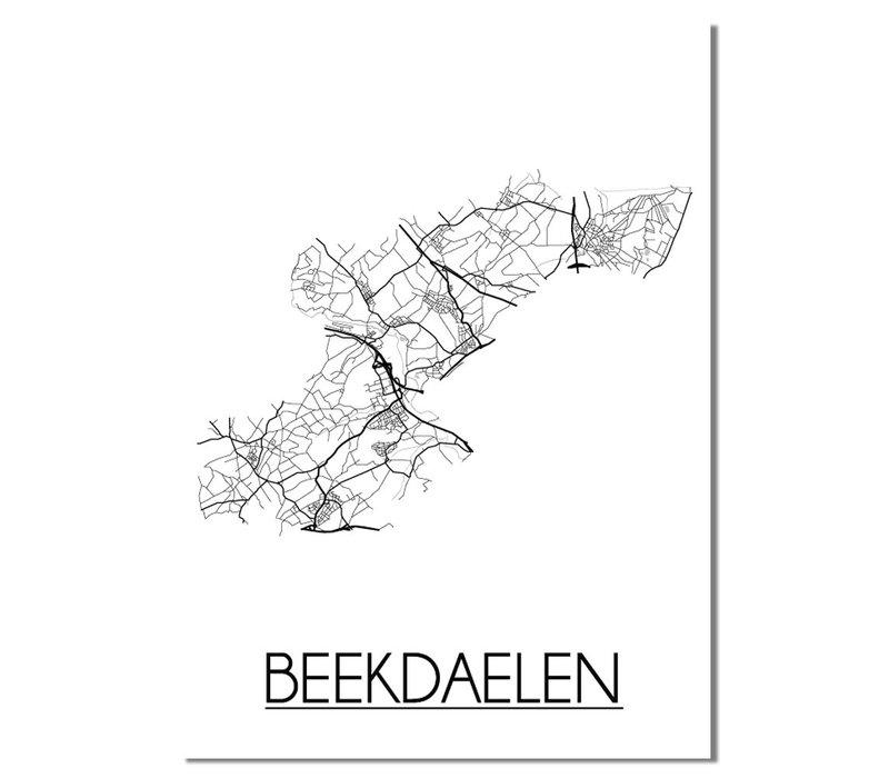 Beekdaelen Plattegrond poster