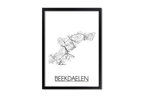 DesignClaud Beekdaelen Plattegrond poster