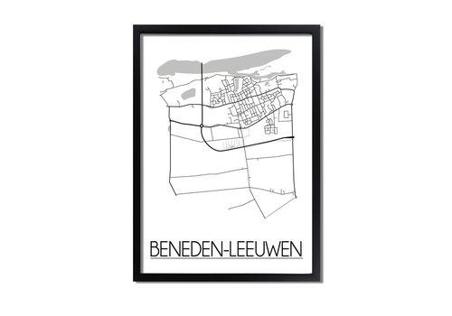 DesignClaud Beneden-Leeuwen Plattegrond poster