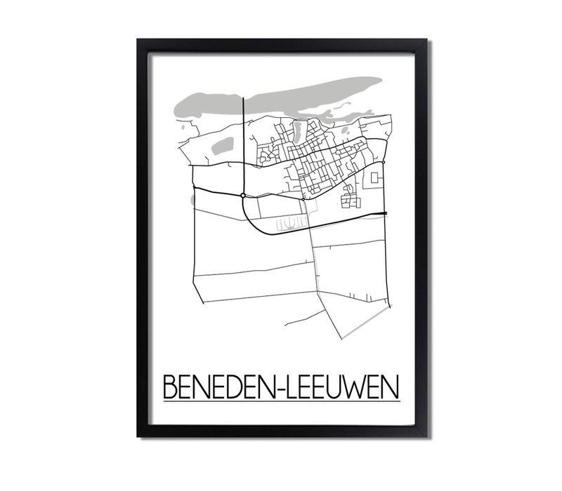 Beneden-Leeuwen Plattegrond poster