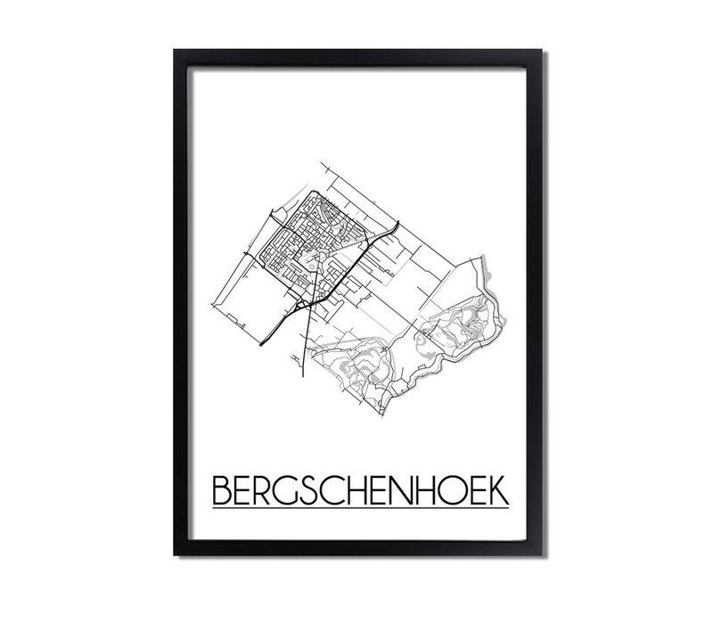 Bergschenhoek Plattegrond poster