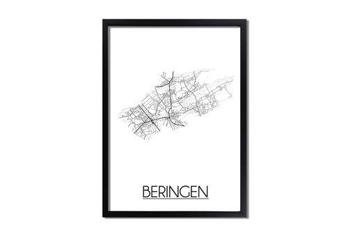 DesignClaud Beringen Plattegrond poster