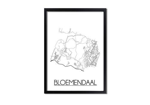 DesignClaud Bloemendaal Plattegrond poster