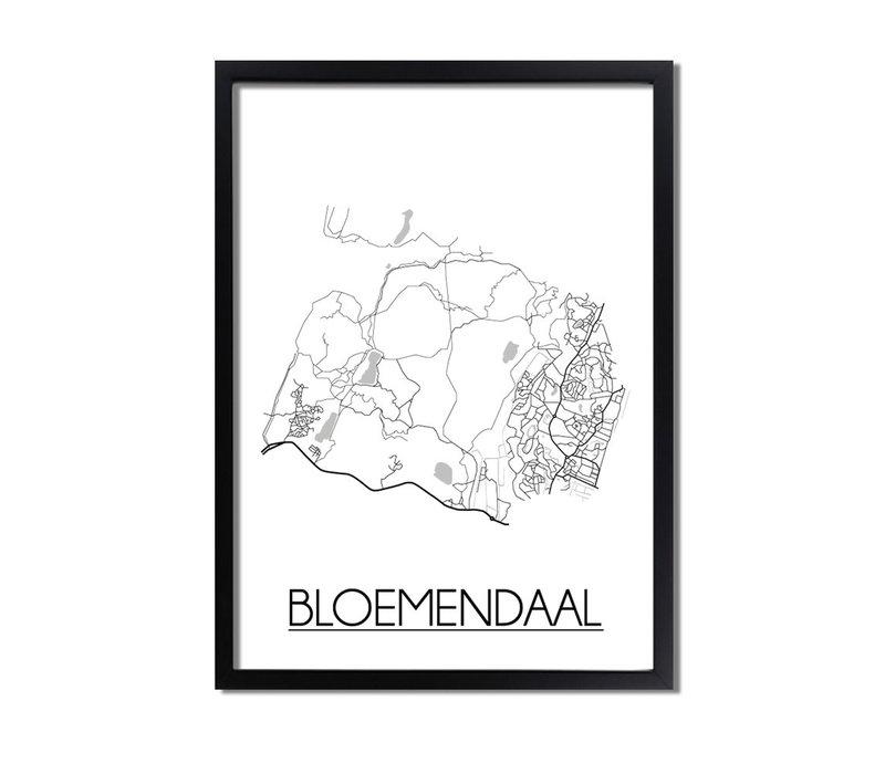 Bloemendaal Plattegrond poster