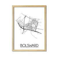 Bolsward Plattegrond poster