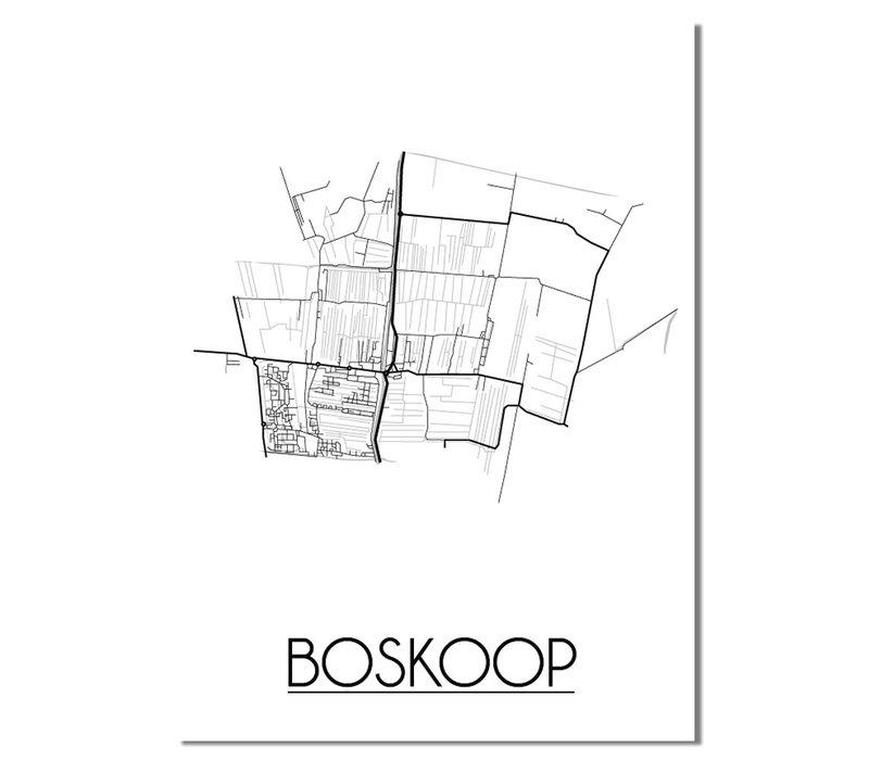 Boskoop Plattegrond poster