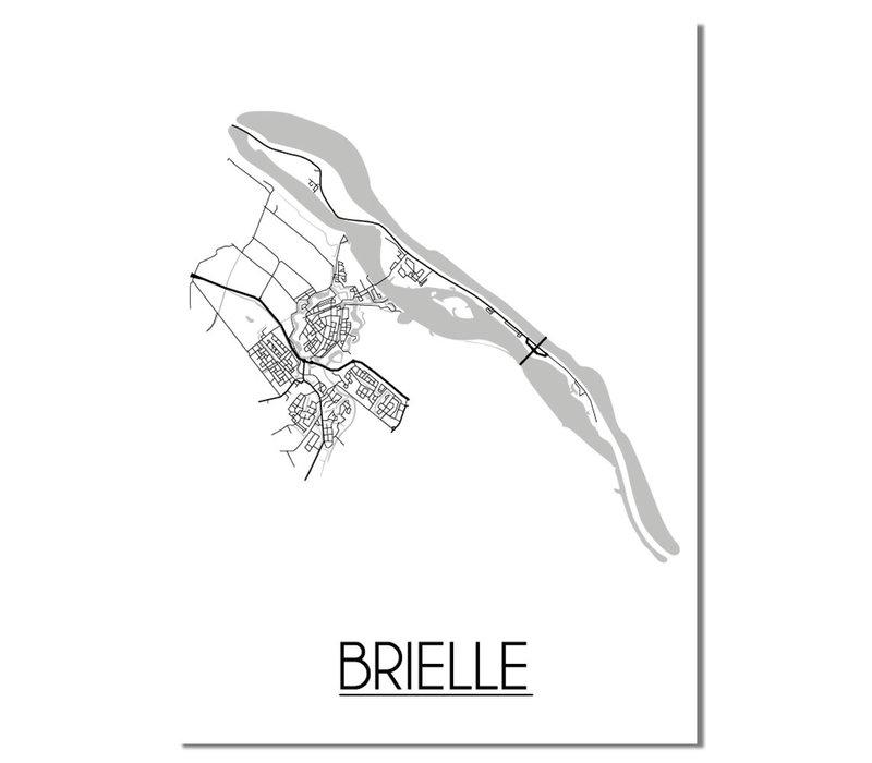 Brielle Plattegrond poster