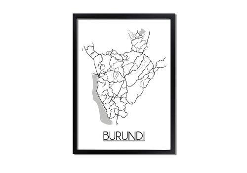 DesignClaud Burundi Plattegrond poster