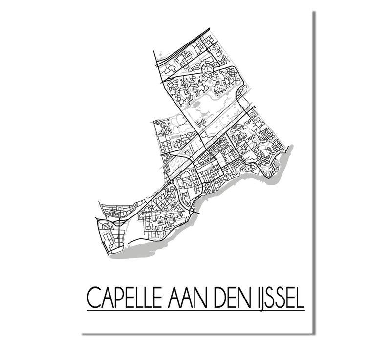 Capelle aan den IJssel Plattegrond poster