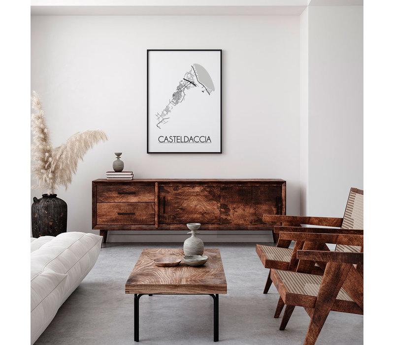 Casteldaccia Italië Plattegrond poster