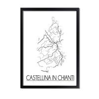 Castellina in Chianti Plattegrond poster