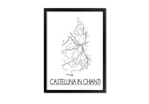 DesignClaud Castellina in Chianti Plattegrond poster